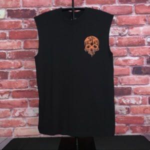 Harley Davidson Black Rebel Skull Sleeveless Tee